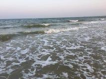 海滩海波浪 库存图片