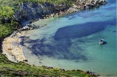 海滩海湾马耳他 免版税库存照片