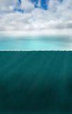 海洋海船舶水下的背景 免版税图库摄影