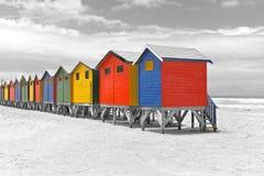 海滩海角小屋城镇 库存图片