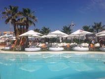 海洋海滩-伊维萨岛 免版税库存图片