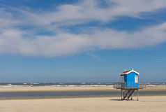 海滩海;火箭队浮游物塔 库存图片