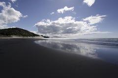 海洋海滩,新西兰 图库摄影