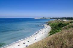 海滩黑海 库存照片