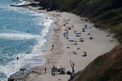 海滩黑海 库存图片