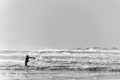 海滩渔 免版税库存图片