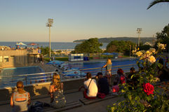 海滨游泳池 库存图片