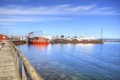 海洋游艇立场  免版税库存图片