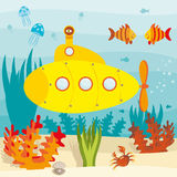 海洋潜水艇 库存图片