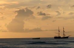 海洋热带视图 免版税库存照片