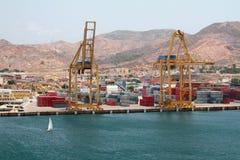 海货物口岸 卡塔赫钠西班牙 图库摄影