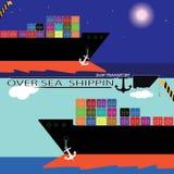 海洋货物 免版税库存照片