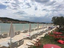海滩特罗吉尔克罗地亚 免版税库存照片