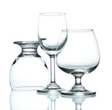 海滩玻璃午餐酒 免版税库存图片