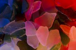 海玻璃片断  库存图片