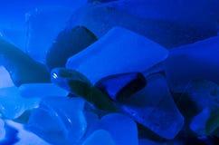 海玻璃片断  免版税库存照片