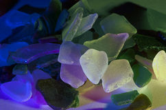 海玻璃片断  库存照片