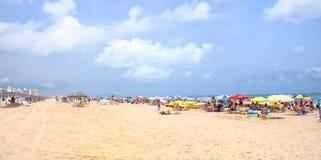海滩甘迪亚,西班牙 图库摄影