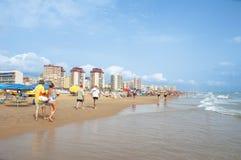 海滩甘迪亚,西班牙 库存图片