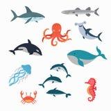 海洋生物传染媒介设计例证 库存照片