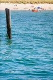 海滩生活背景 免版税图库摄影