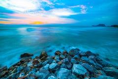 海滩由石头制成 免版税图库摄影
