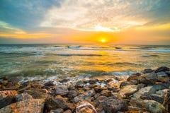 海滩由石头制成 库存图片