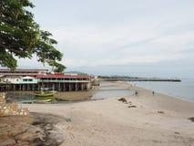 海滩的一个好的看法 库存照片