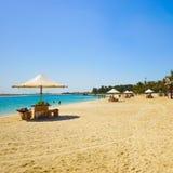 海滩的人基于迪拜 图库摄影
