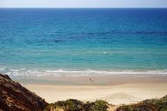 海滩的人 免版税图库摄影