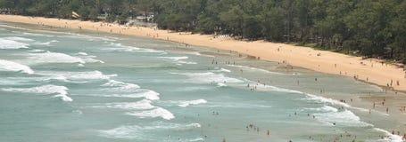 海滩的全景在东南亚 库存图片