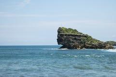 海洋的公主Watu Karung海滩的 图库摄影