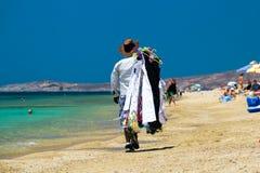 海滩的卖主 免版税库存照片