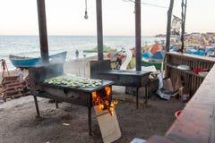 海滩的厨房 库存图片