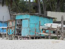 海滩的商店 库存图片