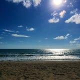 从海滩的地平线 免版税库存图片