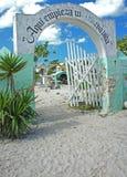 海滩的墨西哥公墓 图库摄影
