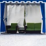 海滩的小屋在圣彼德堡fl 库存照片