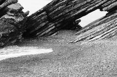 海滨的巨石城 免版税库存图片