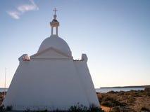 海滩的教会 库存照片