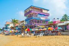 海滩的旅馆 免版税图库摄影