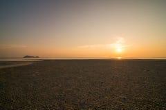 海滩的日落 库存照片