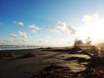 海滩的末端 免版税库存照片