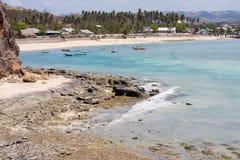 海滩的村庄 免版税库存照片