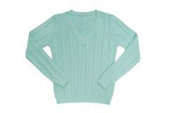 海洋绿的毛线衣 免版税库存照片