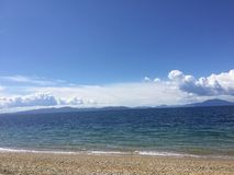 从海滩的海视图 库存照片