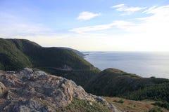 海洋的海角不列塔尼的风景视图 库存照片