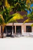 海滩的热带房子bantayan海岛,圣塔菲菲律宾, 08 11 2016年 免版税图库摄影