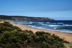 从海滩的看法在澳大利亚 库存照片
