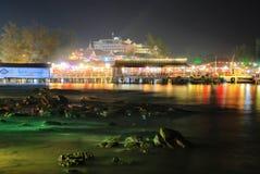 海滩的看法在西哈努克,柬埔寨 图库摄影